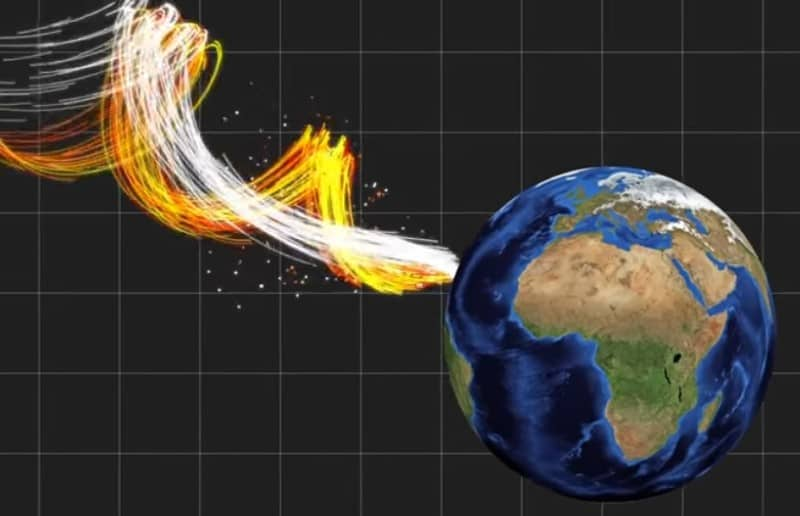 What If a Needle Hits the Earth at the Speed of Light? Imagine