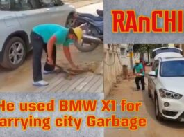 Why this Ranchi man used his ᐈ BMW for carrying city garbage