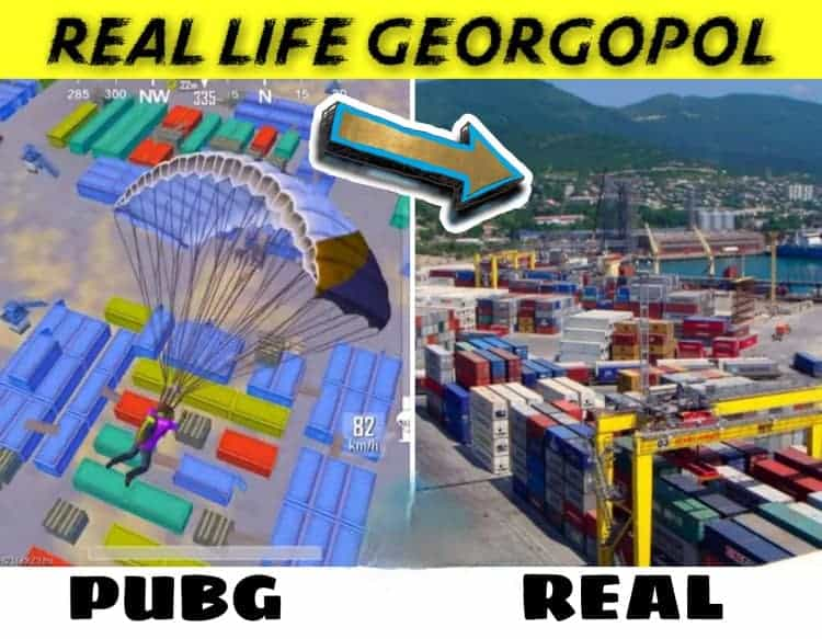 10 PUBG mobile maps | Real life locations in Google Maps