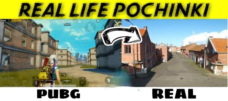 Pochinki in real life 10 PUBG mobile maps | Real life locations in Google Maps