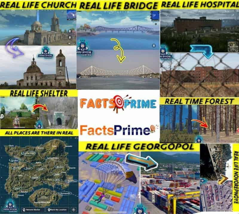 PUBG Locations That exist in Real World | Real Life Places